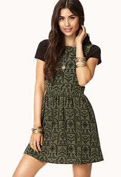 Tribal Print Overall Dress | FOREVER21 - 2000074894