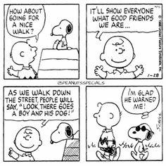 Snoopy & Charlie Brown on a nice walk