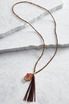 Versona tasseled semi-precious necklace #Versona
