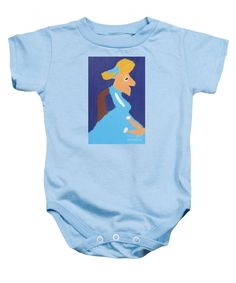 Purchase a Patrick Francis Light Blue Designer Baby Onesie featuring the image of Portrait Of Adeline Ravoux 2014 - After Vincent Van Gogh by Patrick Francis.  Available in sizes S - XL.  Each onesie is printed on-demand, ships within 1 - 2 business days, and comes with a 30-day money-back guarantee.