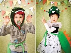 Dino party photo book - accessories to wear