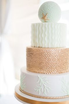 Modern Round Beach-Inspired Wedding Cake | Cake – Kakes By Karen https://www.theknot.com/marketplace/kakes-by-karen-naples-fl-242815 | Wedding Planner – Table 6 Productions https://www.theknot.com/marketplace/table-6-productions-serving-fl-west-coast-fl-258075 | Photography – Hunter Ryan Photo https://www.theknot.com/marketplace/hunter-ryan-photo-fort-myers-fl-603955 |