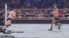 Brogue Kick from Sheamus .  -The Viper finally got back on track Sunday at Battleground with a win over Sheamus.