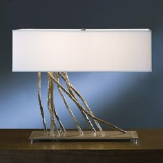 Brindille Table Lamp by Hubbarton Forge / $847 in Burnished Steel at YLighting / 20L 10W 16.5H / 3 60W bulbs
