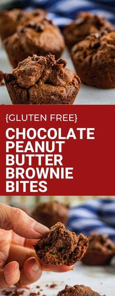 Vegan chocolate peanut butter brownie bites are a gluten free and dairy free dessert! Perfectly indulgent these also contain no added refined sugar. Guilt free treat! #vegandessert #glutenfreerecipe #healthydessert