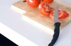 Stone Bench, Kitchenware, Plastic Cutting Board, Kitchen Design, Tops, Cuisine Design, Kitchen Designs