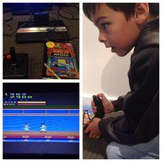 On instagram by dazstar7sixx #atari7800 #microhobbit (o) http://ift.tt/2cjTa8z 2600 is back in action. New generation seems to like it?  #atari #atari2600 #kungfumaster #gamer #1980s #oldschool #activision #activisiongames #gaming #console #joystick #arcade  #atari2600junior #somehowgotittowork!