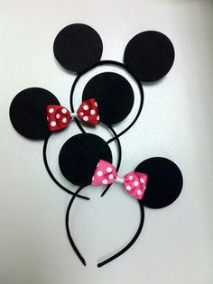SALE 2.50each BULK Minnie Mouse Ears, Mickey Mouse Ears Headband, Minnie Mouse Headband; Minnie Mouse Birthday Party; Mickey Mouse Clubhouse by CraftETuscaloosa on Etsy https://www.etsy.com/listing/155117601/sale-250each-bulk-minnie-mouse-ears