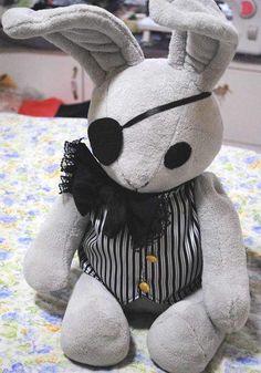 19'' Black Butler Earl Ciel Phantomhive's Rabbits Plushie Handmade Stuffed Plush Toy