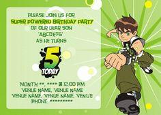 My Design Blog: Ben 10 birthday invite
