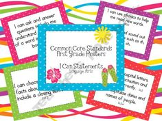 $4.00 1st grade common core posters to print   Surfin-Through-Second Shop - | Teachers Notebook