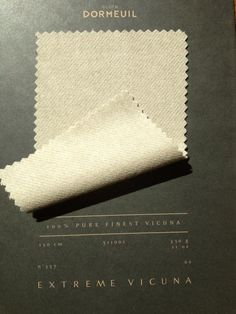 Vicuna from Argentina produces fabric that is luxurious and the lightest color