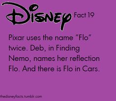 Is it werid that right when i read the word FLO, i said in my head, OH I FLO? Like from Finding Nemo