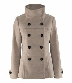 Warm, Trendy and Cute Winter Coats Cute Winter Coats, Blazers, H&m Jackets, Outerwear Jackets, Tweed Coat, Double Breasted Jacket, Winter Jackets Women, Brown Jacket, Dress To Impress