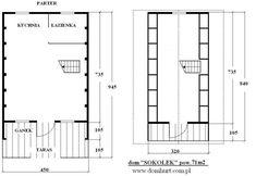 Domki letniskowe - SOKOŁEK Cabana, Floor Plans, Frames, Houses, Alpine House, Country Houses, Homes, Frame, House Floor Plans