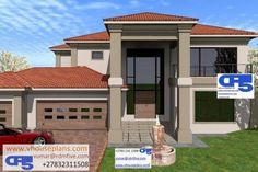 Free House Plans, House Floor Plans, Architecture Artists, Architecture Design, Dream Homes, My Dream Home, 6 Bedroom House Plans, Double Storey House Plans, African House
