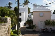Houses in Bermuda. Stepped Roofs conserve water