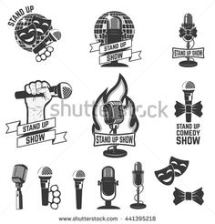 Radio Show Mic Logo Png Microphone Logo Png Theatre