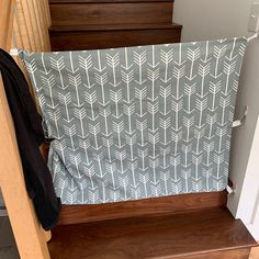 Fabric Baby & Pet Gate- Hooks Directly to Staircase Wall Fabric Baby Gates, Baby Gate For Stairs, Etsy Fabric, Pet Gate, Home Decor Fabric, Fabric Panels, Custom Fabric, Baby Animals