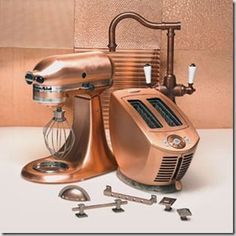 I have the toaster, and want the expensive mixer. Plus I have copper draw pulls. Black appliances and copper accents in my kitchen. I have the toaster, and want the expensive mixer. Plus I have copper draw pulls. Steampunk Kitchen, Steampunk House, Copper Kitchen Aid, Black And Copper Kitchen, Slate Kitchen, Kitchen Brick, Kitchen Redo, Black Appliances, Kitchen Appliances
