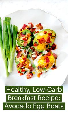 Gluten Free Recipes, Low Carb Recipes, Diet Recipes, Low Carb Breakfast, Breakfast Recipes, Breakfast Ideas, Avocado Egg Boats, Healthy Eating Recipes, Healthy Food