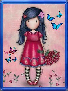 Peacock Art, Holly Hobbie, Painting For Kids, Santorini, Art World, Cute Cartoon, Cute Drawings, Cute Art, Decoupage