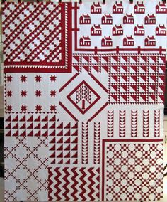 This is Thelma's Red & White Tribute quilt ~ the original, the one in American Patchwork & Quilting magazine.
