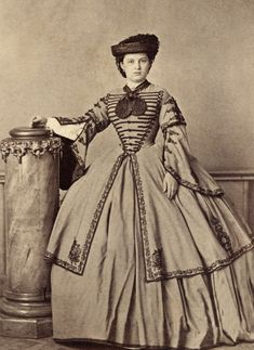 ~ ~ Antique Photograph ~ ~  Sometimes I'm speechless when I see a photograph, this is one of those times.  Woman in an extraordinary dress ~ beginning of the Civil War. - Visit to grab an amazing super hero shirt now on sale!