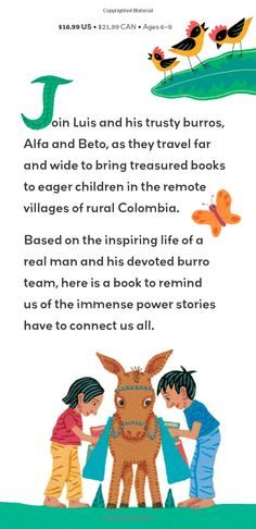 Biblioburro: A True Story from Colombia by Jeanette Winter #Literacy #Books #Libraries #Kids #Colombia