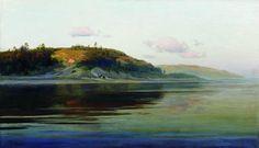 Summer evening. River., 1894, Isaac Levitan