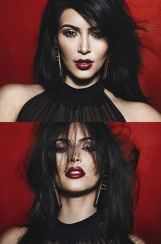 I'm not too keen on Kim K, but I have to admit, when she dons a darker style of makeup, she rocks it and I'm a fan. Not sure if she does her own makeup or if it is usually an artist's work, but they're doing it right, in this specific case...