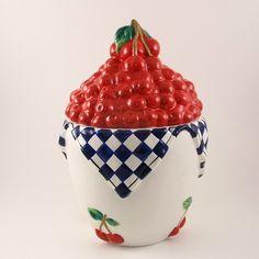 Bowl of Cherries Ceramic Cookie Jar SMC Tone World