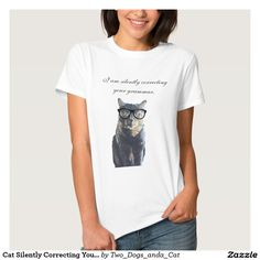 Cat Silently Correcting Your Grammar T-shirt