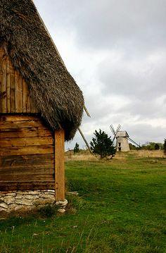 Fårhus på Fårö, Gotland, Sweden