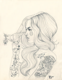 More original drawings available in the shop today! http://www.etsy.com/shop/LizCIllustration