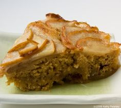 pear right-side-up cake