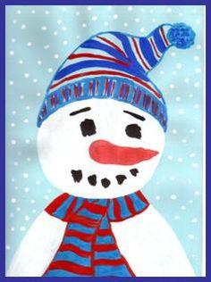 Portrét sněhuláka