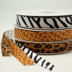Jungle Animal Print Ribbon by Beau-coup