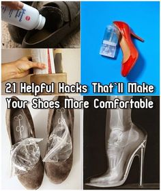 25 Ways to make your heels more comfortable. Some of these are genius!! Trying the ice one right now!
