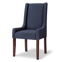 Charlie Modern Wingback Swoop Arm Dining Chair