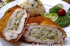 Zöldfűszeres krémsajtos csirkemell | Receptkirály.hu