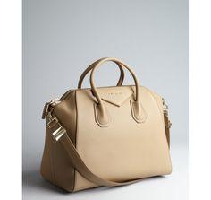 Givenchy beige leather 'Antigona' crossbody large satchel