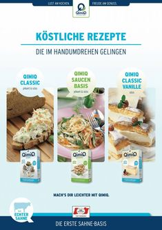 Rezepthefte - QimiQ Cereal, Meat, Chicken, Breakfast, Food, Food Food, Cooking, Simple, Morning Coffee