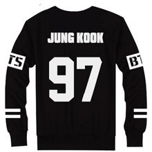 #BTS Jungkook black sweatshirt, kpop merch