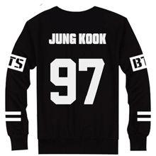 #BTS Jungkook black sweatshirt, kpop merch