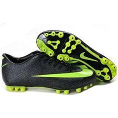 http://www.asneakers4u.com/ New Discount Nike Jnr Mercurial Victory II AG Artificial Grass Soccer Cleats Black/Volt/Dark Shadow