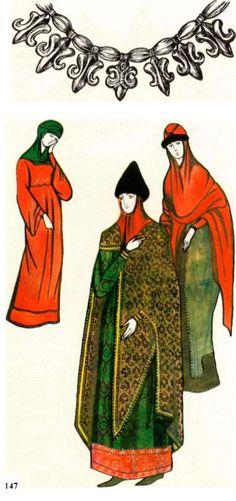 История костюма3 стр.65 | Текстильная промышленность - St. Vladimir's wife and daughters, Sofia Cathedral