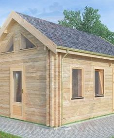 "Micro Log Cabin x ""Maidstone"" Tiny House Cabin, Log Cabin Homes, Tiny House Plans, Log Cabins, Tiny Houses, Cedar Cabin, How To Build A Log Cabin, Cottage Porch, Rustic Loft"