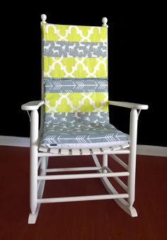 Rocking Chair Cushion Cover Turquoise Microplush Rocking chair
