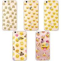 Transparent Silicon Monkey Emoji Cases Cover For iphone 6 6S/6 Plus 6Splus Hot sale